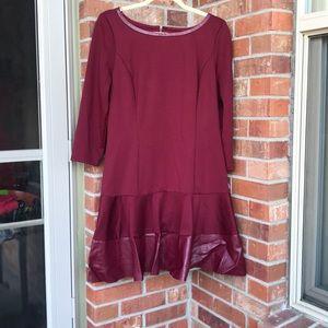 NWT Jessica Simpson burgundy fall dress
